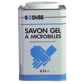 SAVON GEL ROUGE A MICROBILLES -4.5L- MECAN.